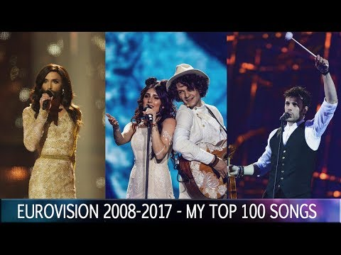 Eurovision 2008-2017 | My Top 100 Songs