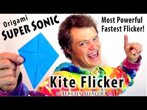 Origami Super Sonic Kite Flicker by Jeremy Shafer