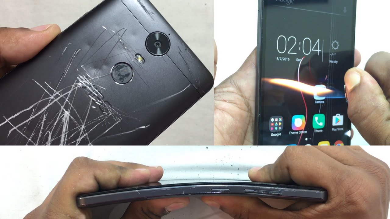 Lenovo Vibe K5 Note - Scratch test, Burn test, Hitting test, Bend test
