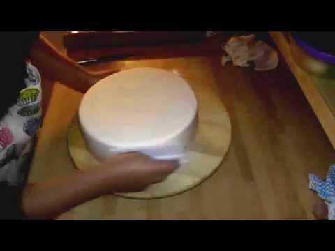 torte mit fondant eindecken i tutorial i how to