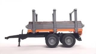 Bruder Przyczepa dwuosiowa do transportu drewna BR 02213