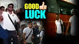 Virat, MS Dhoni with Sakshi, Ziva & Team India Together @ Delhi Aiport | Sports Tak