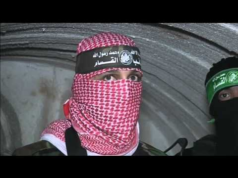 Hamas fighters show underground tunnel network in Gaza