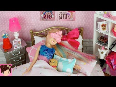 Barbie Jojo Siwa Doll Evening Routine - Dance Class & Study Play Date with Skipper