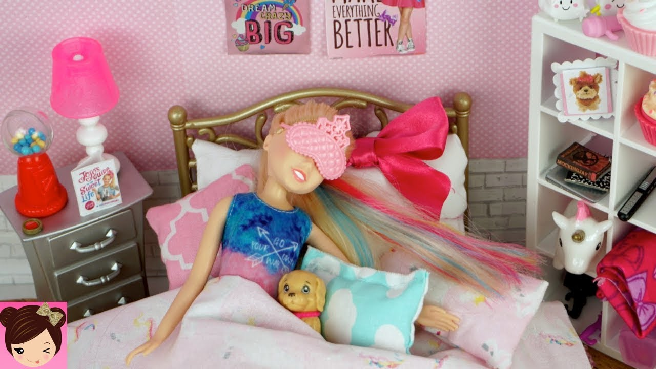 Barbie Bedroom Jojo Siwa Doll Evening Routine Dance