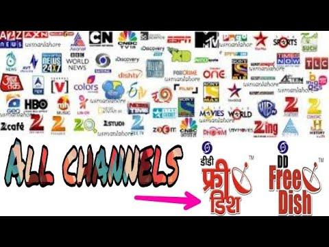 Add new channels in DD free dish