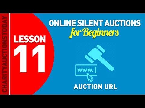 Free Online Silent Auctions Lesson 11 - Auction URL