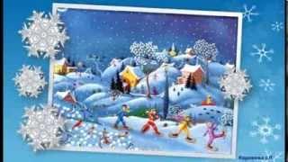 Пісенька 'Сніжок' - мінус зі словами