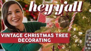 Christmas Tree Decorating with IVY | Stunning Vintage Ornaments | Hey Y'all