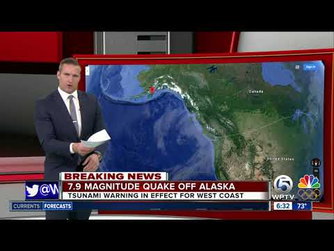 Alaska earthquake prompts tsunami watches, warning