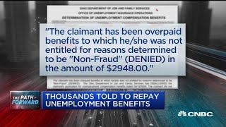 Thousands told to repay unemployment benefits
