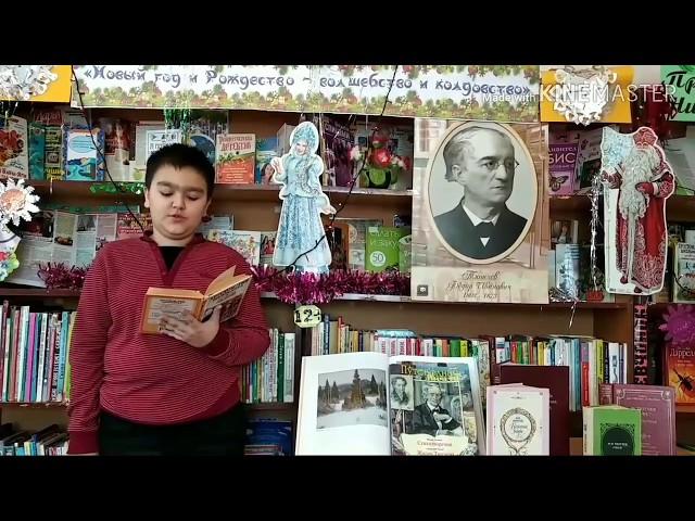 Изображение предпросмотра прочтения – ЭминЮлдашев читает произведение «Чародейкою Зимою…» Ф.И.Тютчева