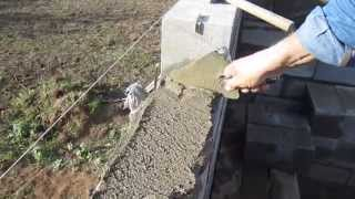 Укладка полнотелых цементно песчанных блоков(, 2013-10-13T21:44:46.000Z)