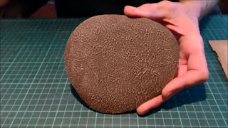 Texturing terrain bases with filler (spackle)