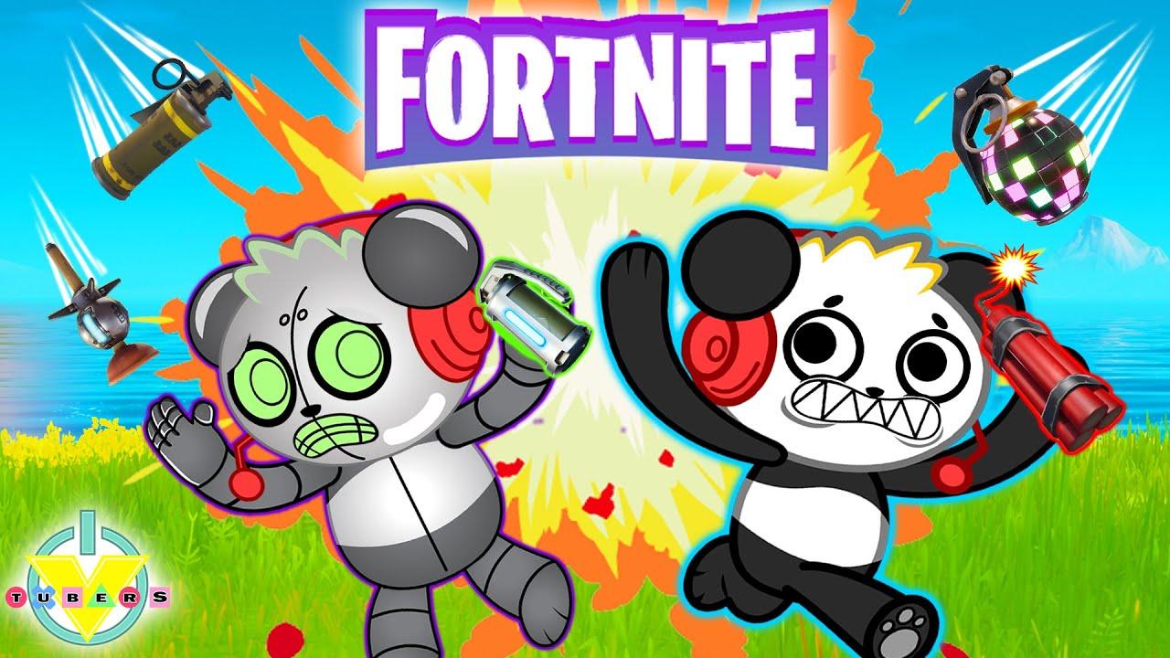 FORTNITE CATCH! Combo Panda vs Robo Combo ! Let's Play Fortnite Duos