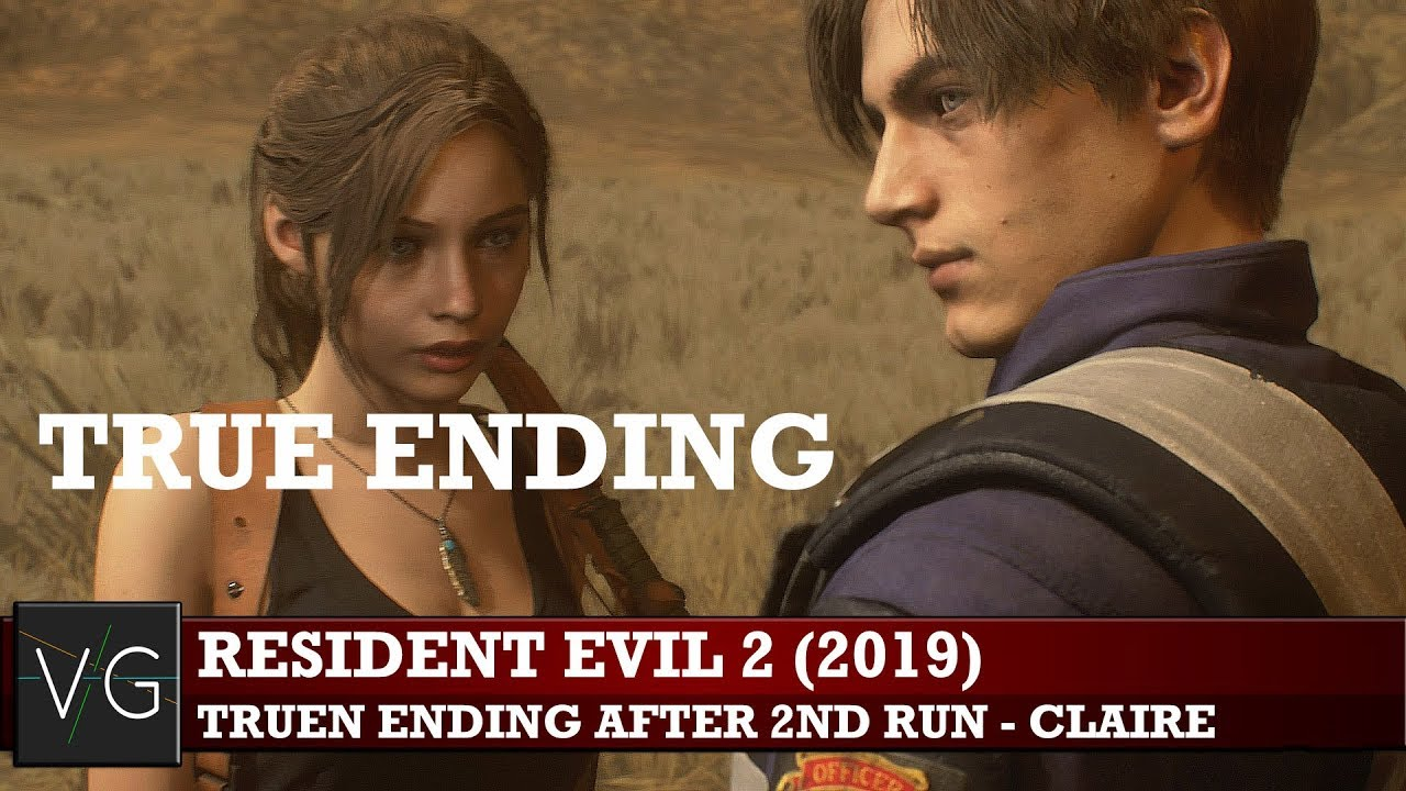 Resident Evil 2 2019 True Ending After 2nd Run Claire