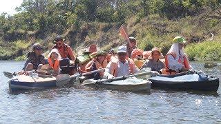 Canoeing on the bear river in Volgograd region.