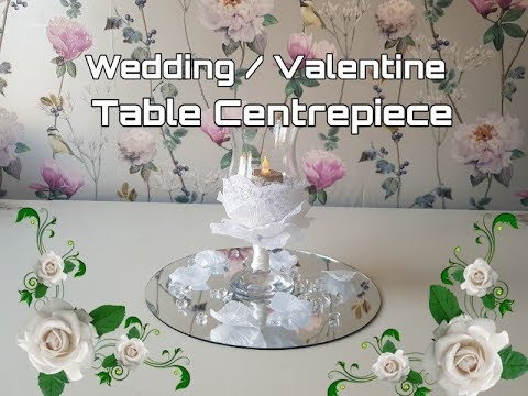 Wedding Table Centrepiece Poundland - Home Bargains -  Valentine
