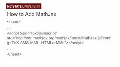 Accessible Math on the Web: Part 1, The Simple Way to Use MathJax