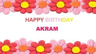 Akram   Birthday Postcards & Postales - Happy Birthday