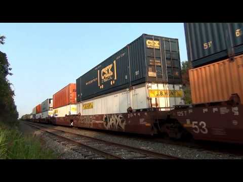 Thumbnail: Fast CSX Stack Train at RR Crossing