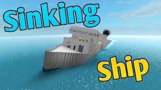 MASON PLAYS SINKING SHIP IN ROBLOX!