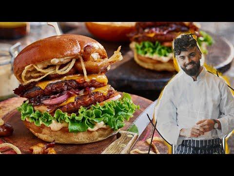 Chef Makes Unbelievable Gourmet VEGAN Burgers