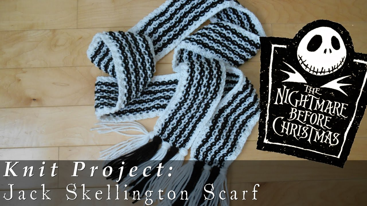 Jack Skellington Scarf | Nightmare Before Christmas { Knit } - YouTube