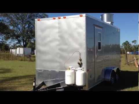 New 2013 7x16 Tandem Axle Concession Trailer Silverfrost