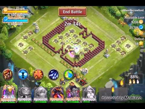 Castle Clash Warlock In Action :)