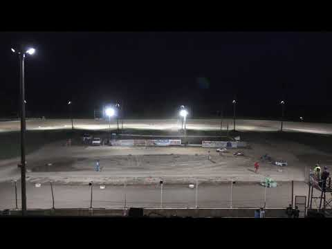 A Feature 1 (10 Laps): B76-Zayden Buskirk, 12-Eli Fellows, 747-Jazzlyn Hale, 21N-Landyn Neitling, 155-Mikah Kurkowski. - dirt track racing video image