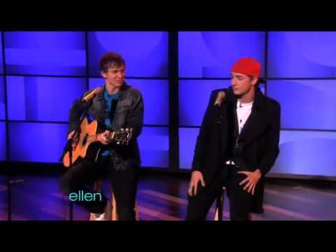 two cute guys singing on ellen show (cj holland & dakota bradley)