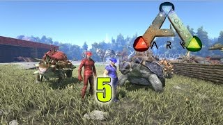 Ark: Survival Evolved| Ep.5 Online| Attacked by Giant Ants