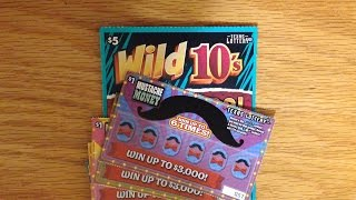 Biggest Win Yet!! 1X Wild 10's & 5X Mustache Money - Texas Lottery Scratch Offs