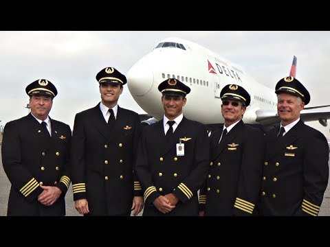Delta 747-400 Farewell Media Event at LAX - Including Inside Tour