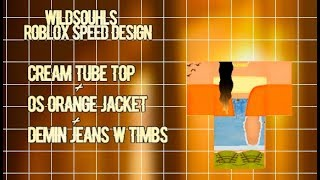 Roblox Speed Design ✰|| Cream Tube+OS Orange Jacket+Ripped Denim Jeans