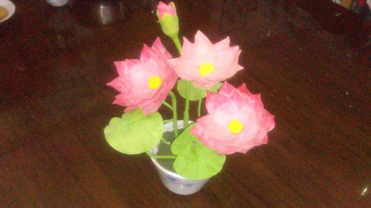Thai Clay Diye Lotus Flower Making Part 1 Youtube