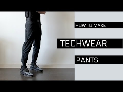 Cropped TECHWEAR Pants | DIY