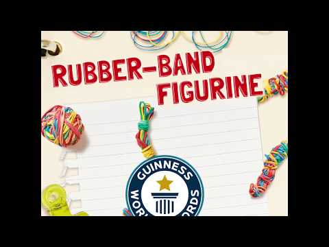 How to make a rubber-band man! #Makeitmonday with The Creation Station and Guinness World Records