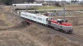 関東鉄道5010形5011+5012甲種輸送