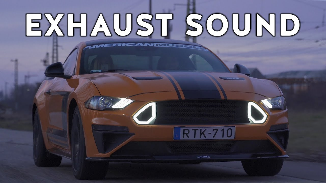 Ford Mustang GT 5.0 V8 EXHAUST SOUND