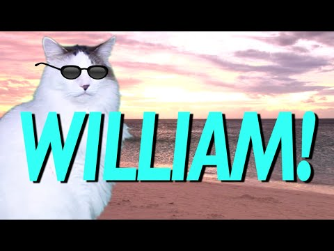 HAPPY BIRTHDAY WILLIAM! - EPIC CAT Happy Birthday Song