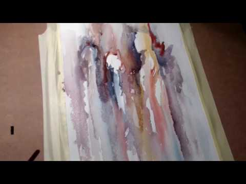 Hedwig's Art Experiment watercolor,  from nothing to somethi