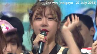 GIRLS DAY 걸스데이 - Darling 달링 3 SHOW WINS COMPILATION