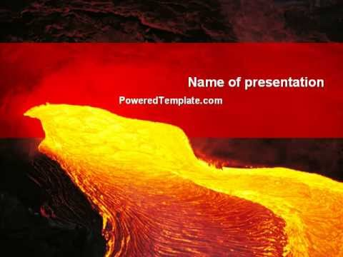 Volcano lava powerpoint template by poweredtemplate youtube volcano lava powerpoint template by poweredtemplate toneelgroepblik Image collections