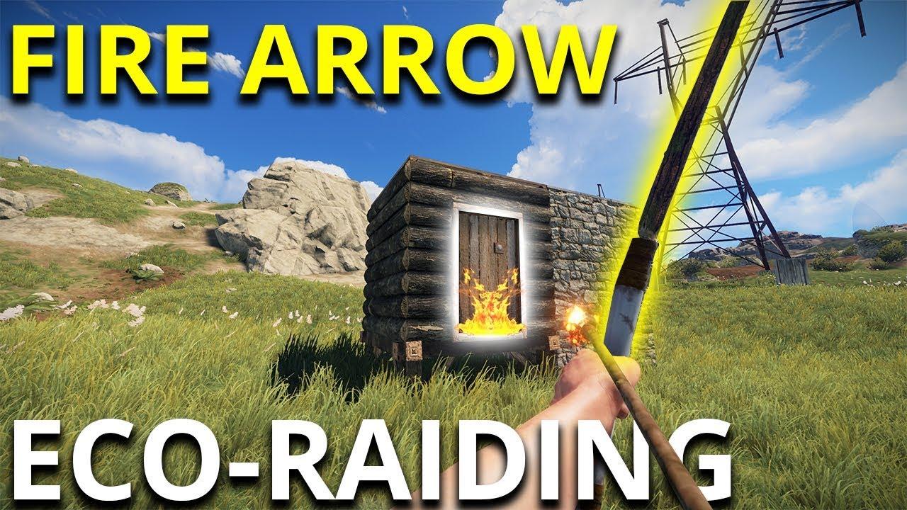 Fire Arrow Eco Raiding My Neighbour Rust Solo Survival Gameplay Youtube