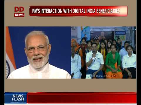 PM interacts with beneficiaries of Digital India via video conferencing
