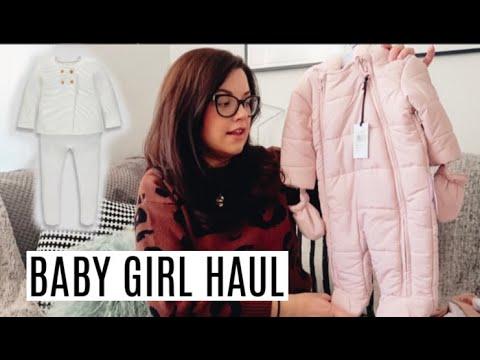 BABY GIRL CLOTHING HAUL | WINTER NEWBORN CLOTHING HAUL