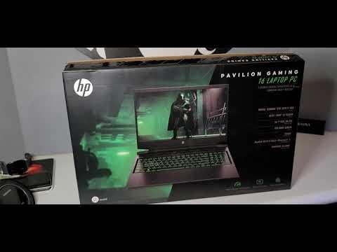 HP pavillion 16.1 gaming laptop 1650ti unboxing and setup