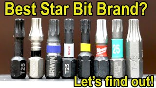 Best Star (Torx) Bit Brand? Lets find out!